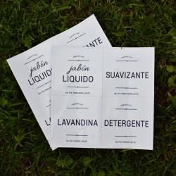 Plancha etiquetas lavadero