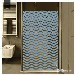 Vinilo - Esmerilado baño ondas