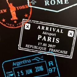Mini vinilos sellos pasaportes