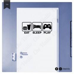 Vinilo eat play sleep