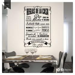 Vinilo Decorativo Reglas de...