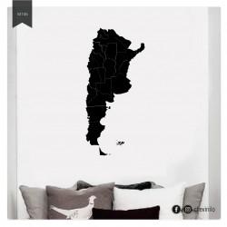 Vinilo Mapa Argentina político