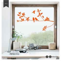 Vinilo pájaros sobre rama