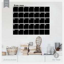 Vinilo Pizarra Calendario...